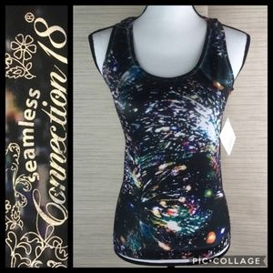 Seamless Stretch Sublimated Print Tank Top